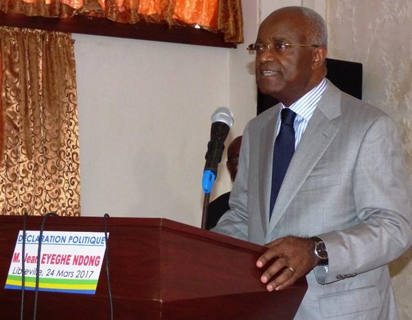 Eyeghe Ndong reporte sine die une conférence de presse prévue ce lundi