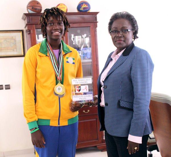 40 millions de FCFA pour la formation d'une talentueuse jeune tenniswoman gabonaise