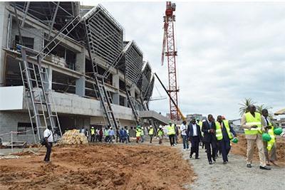 Construction du Palais des Sports  de Libreville: 70% de réalisation