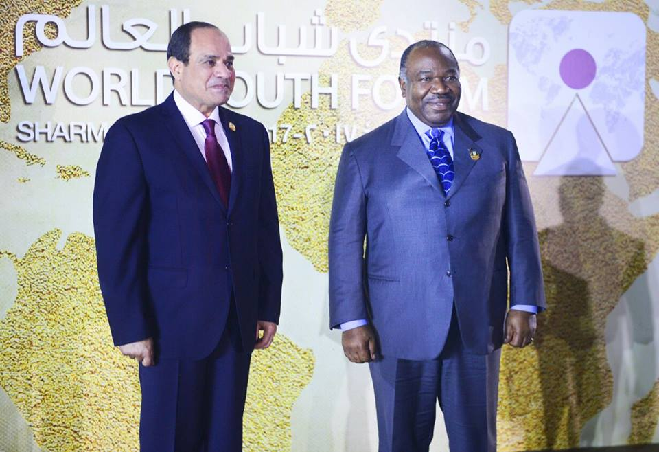 Ali Bongo en Egypte pour le forum mondial de la jeunesse