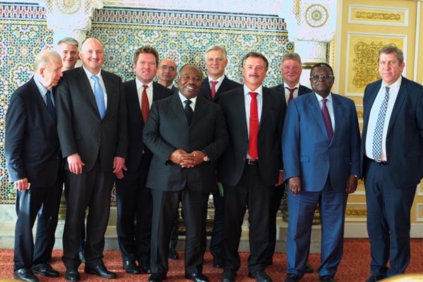 Une forte délégation allemande chez Ali Bongo