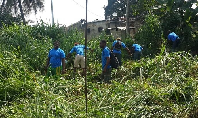 L'action  citoyenne de  l'AJEV  dans le 6ème arrondissement de Libreville