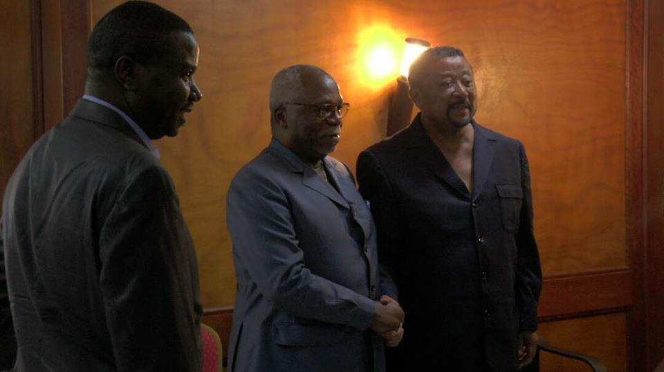 Guy Nzouba Ndama en consultation chez Jean Ping