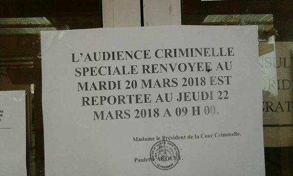 Urgent : le procès de Blaise Wada reporté au 22 mars prochain