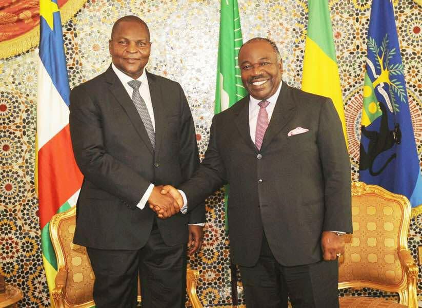 Bref séjour du président centrafricain à Libreville