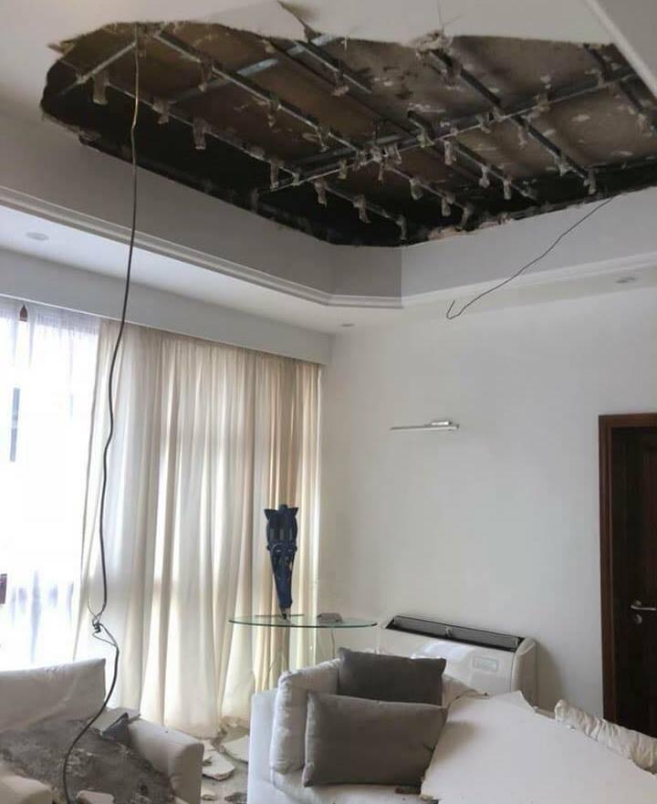 Insolite : Le plafond du luxueux  bureau du directeur de cabinet du Président de la République est tombé