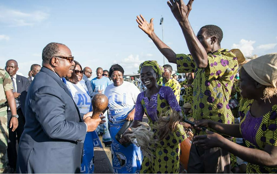 Ali Bongo à Franceville comme dans un air de campagne électorale