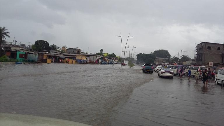 Pluie torrentielle à Libreville : Plusieurs quartiers inondés