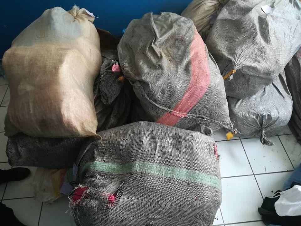Saisie d'une cargaison de 285,5 kg contenant 2 500 ballots de cannabis
