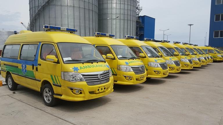 GSEZ offre 20 ambulances médicalisées aux hôpitaux du Gabon