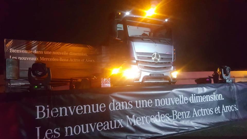Tractacfric lance sur le marché gabonais un nouveau camion Mercedes-Benz Actros