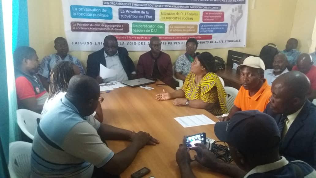 Interdiction de la marche du 13 août: Dynamique unitaire et apparentés appellent les agents publics à une assemblée générale lundi