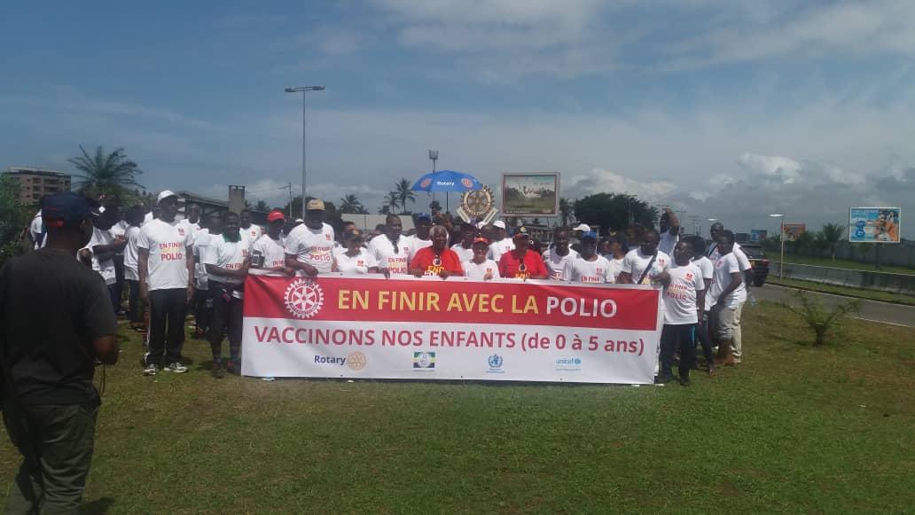 Une marche pour « booter » la poliomyélite hors du continent africain