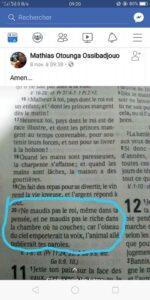 Santé d'Ali Bongo : Mathias Otounga Ossibadjouo reprend son « post Facebook » à la figure dans actualité BIBLE-150x300