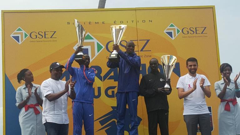 Le triomphe du Kenyan Shedrack Kimayo au Marathon du Gabon-GSEZ 2018