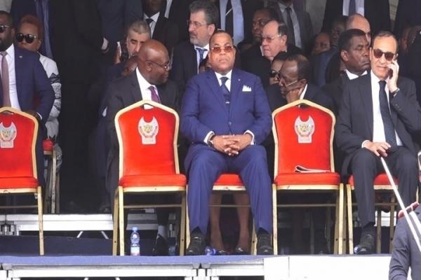 Julien Nkoghé Békalé a représenté le Gabon à l'investiture de Félix Tshisékédi
