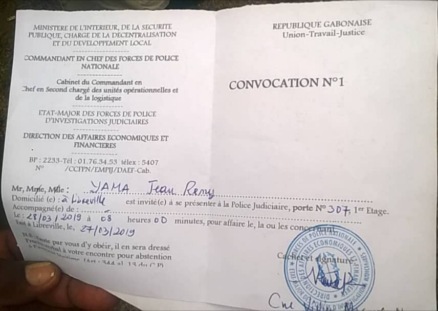 Le syndicaliste Jean Remy Yama convoqué à la police judiciaire ce jeudi à 8h