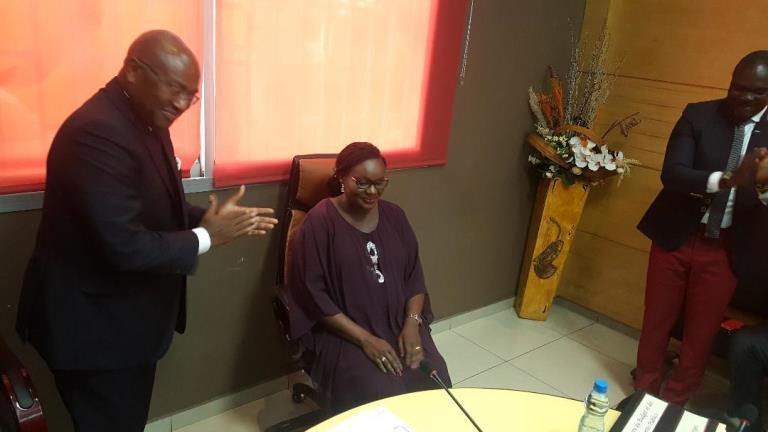 Edith Ekiri Mounombi épouse Oyoumi dans ses nouvelles fonctions de secrétaire générale du ministère du budget