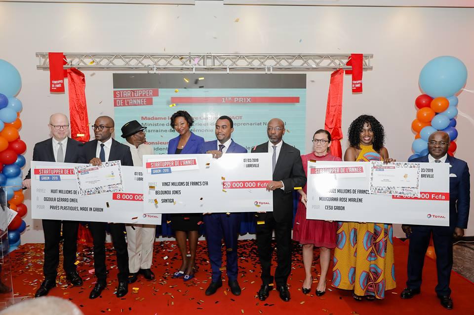 Startupper de l'année 2019by Total: Jones Belounou remporte le 1er prix au Gabon