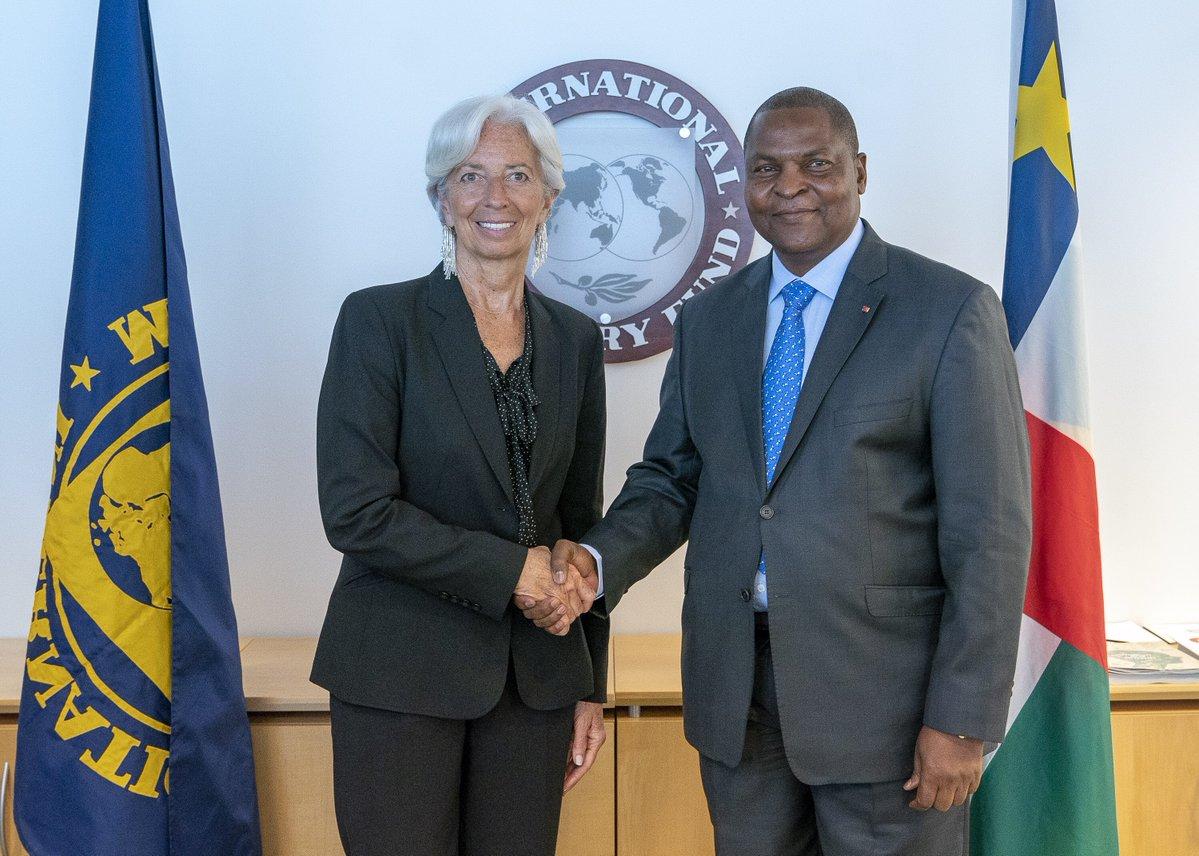 Touadéra bataille pour son pays auprès du FMI à Washington