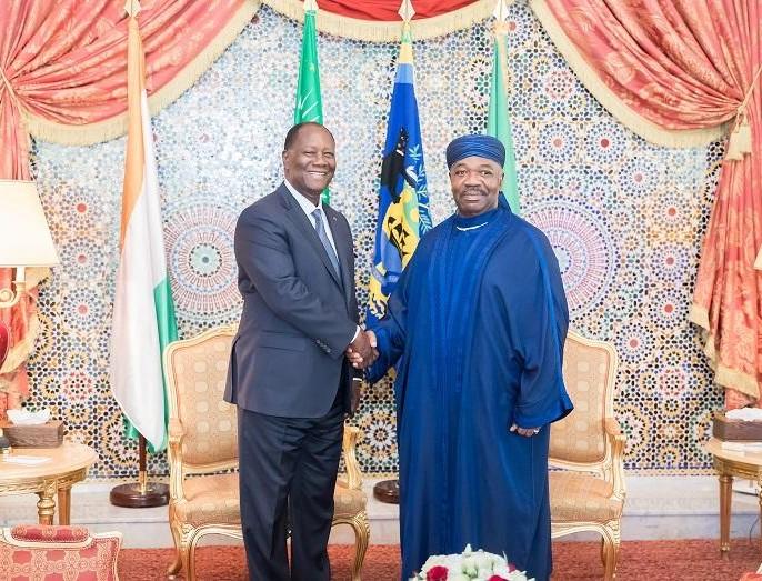 Alassane Dramane Ouattara invite Ali Bongo  en visite en Côte d'Ivoire dès qu'il le voudra