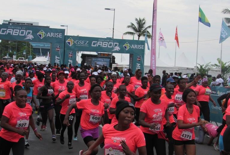 Marathon du Gabon GSEZ 2019 : 6 000 femmes ont couru pour l'épreuve la Gabonaise