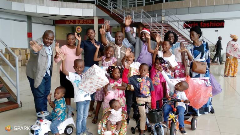 Les enfants du personnel de Gabonactu.com ont goûté à la magie de Noël